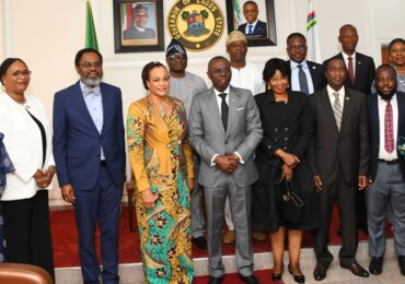 PICTURES: LAGOS PUBLIC INTEREST LAW PARTNERSHIP BOARD OF TRUSTEES PAY COURTESY VISIT TO GOV. SANWO-OLU AT LAGOS HOUSE, ALAUSA, IKEJA, ON MONDAY, FEBRUARY 10, 2020
