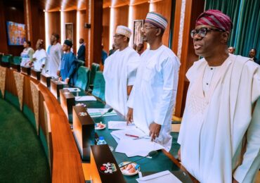 PICTURES: GOV. SANWO-OLU ATTENDS NATIONAL ECONOMIC COUNCIL MEETING AT THE COUNCIL CHAMBER, ASO VILLA, ABUJA ON THURSDAY,MARCH 19, 2020.