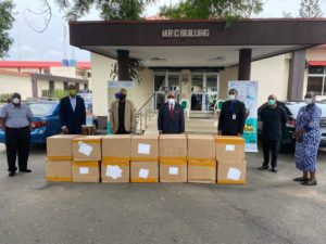 OPay Donates 100,000 Face Masks to LASUTH Under NSE Masks for All Nigerians Campaign