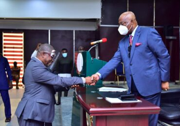 Uzodimma Swears-In President, Customary Court of Appeal, Owerri