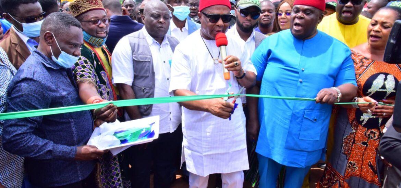 Uzodimma Flags Off 12km Awo-Omamma – Okwudor Road Construction