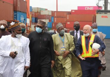 PHOTO NEWS: Kano State Governor Tours Ports & Cargo Handling Services Limited