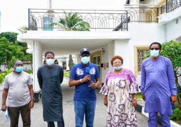 Sanwo-Olu Meets Chairman Of Judicial Panel Investigating SARS Brutality Ahead Of Inauguration