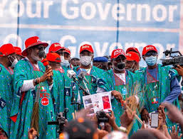 Buhari, Osinbajo, Sanwo-Olu, APC Govs Storm Ondo For Akeredolu's Re-election Rally…