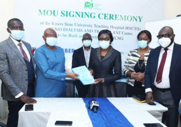 NLNG Presents N381m Renal Centre To RSUTH