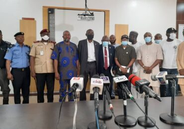 LASG BRIEFS MEDIA ON TRAFFIC VIOLATIONS BY MOTORISTS, MOTORCYCLE AND TRICYCLE RIDERS, ON WEDNESDAY, NOVEMBER 19 , 2020