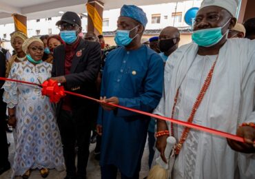 GOV. SANWO-OLU COMMISSIONS ROAD, PRIMARY HEALTH CENTRE AND ULTRA MODERN COUNCIL SECRETARIAT EXTENSION IN APAPA IGANMU LCDA ON FRIDAY, NOVEMBER 27, 2020